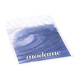 Madameposer med blåt print