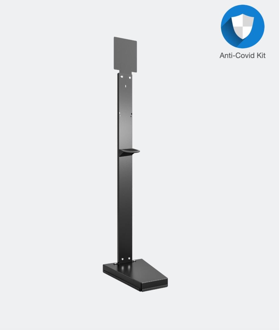 Dispenser stativ på fod i sort metal