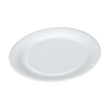 Paptallerken hvid 23 cm rund