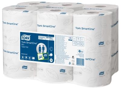 Tork SmartOne Mini Toiletpapir T9 Hvid