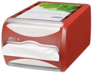 Tork Xpressnap Servietdispenser til disk N4 Rød